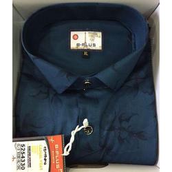 Cotton Blue Printed Shirt