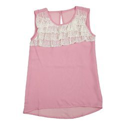 Sleeveless Top with Emb
