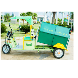 garbage container cycle rickshaw battery operated