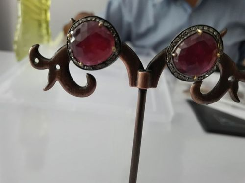 RED Vitorian Silver Ruby Tops