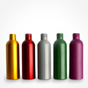 Colored Aluminum Bottles