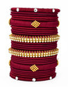 fancy Maroon Silk Thread Bangle
