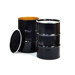 Black Metal Storage Drum, Capacity: 250-300 litres