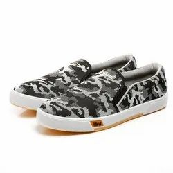 Mens Black White Sneaker Canvas Shoes