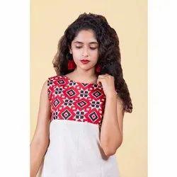 Printed Ladies Cotton Dress