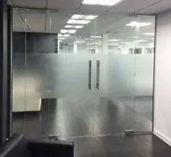 Modi Guard Plain Toughened Glass Door for Office