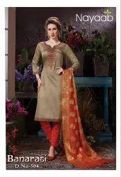 Nayaab Banarasi Dupatta Designer Suit