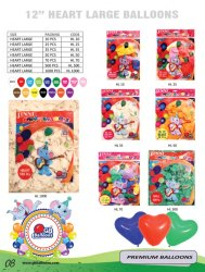 12 GB Sports Jinni Latex Heart Shape Balloons (35 Pcs)