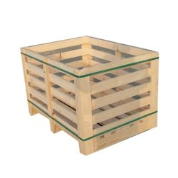 Rectangular Wooden Pallet Box, Box Capacity: 201-400 Kg