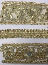 mst金色刺绣花边,手工制作:无,厚度:2.5英寸