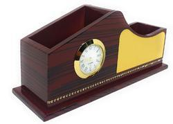 Crownlit Two Compartments Wave Style Wooden Organiser