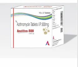 Anzithro-500 Allopathic Azithromycin 500mg Tablets, 10 x 3 Tablets