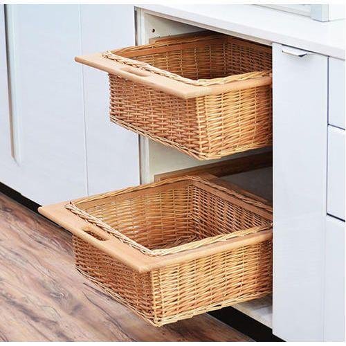 Brown Plastic Wicker Basket