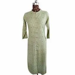 Casual Wear 3/4th Sleeve Ladies Handloom Cotton Kurti, Size: S-Xxl, Wash Care: Machine Wash