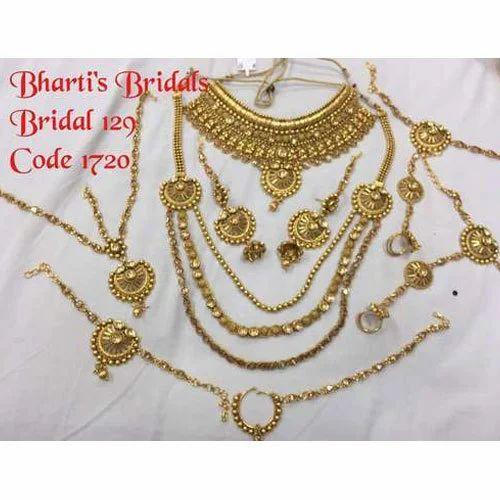Gold Plated Bridal Set At Rs 4472 Set द ल हन क