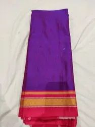 Border Multicolor KHUN SAREE, With Blouse Piece