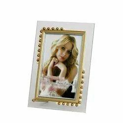 Half Moti Glass Photo Frame