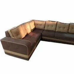 Leather L Shape Sofa Set