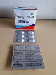 AZIKAB Azithromycin 500 mg Allopathic Tablets