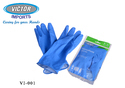 Victor House Hold Flock Uned Rubber Hand Gloves