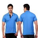 Mens Blue College T-shirt