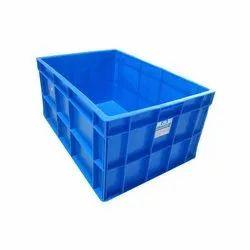 Blue Rectangular Nilkamal Plastic Crates, Capacity: 48 Ltr, Dimension/Size: 600x400x220 Mm