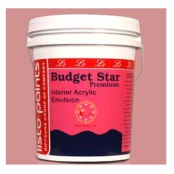 Pink Budget Star Premium 20 ltrs Interior Acrylic Emulsion, Packaging Size: Available In 20l