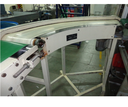 90 Degree Curve Conveyor System PU Belt