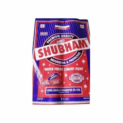 NGP Matt Shubham Water Proof Cement Paint, Packaging Type: PP Bag, Packaging Size: 20 Kg