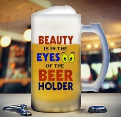 Printed Frosted Beer Mugs 16OZ