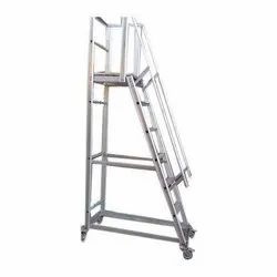 SKL Aluminum Trolley Step Ladder
