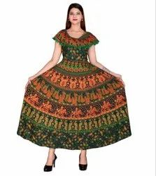 Printed Pom Pom Attached Frock