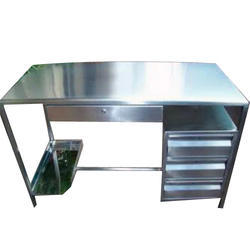 Silver Color Stainless Steel Office Table
