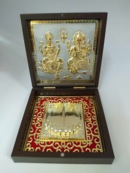 Laxmi Ganesh Gold Plated Photo Frame Box