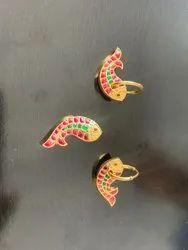 Golden Earring Silver Jewellery Set