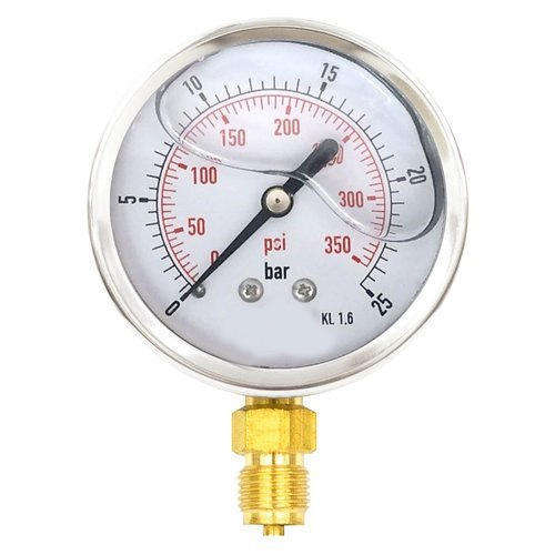 Glycerine Filled Hydraulic Pressure Gauge