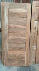 Teak Wood Grooved Door