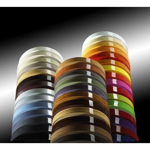 PVC Multicolor Glossy Edge Banding Tape, Packaging Type: Roll