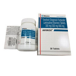 Tenofovir Disoproxil Fumarate, Lamivudine Efavirenz Tablets 300 mg/300 mg/400 mg