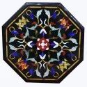 Black Marble Mosaic Coffee Marquetry Table Top