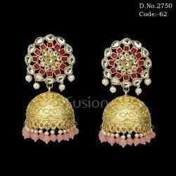 Fusion Ethnic Kundan Jhumki Earring