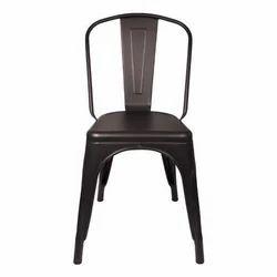Black Portable Plastic Tolix Chair