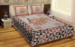 Cotton King Barmeri Printed Bed Sheet, For Home, Size: 90 X 108 Inch