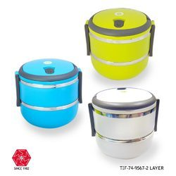 Steel Lunch Box Two Layer Round -TIF-74