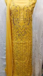 Yellow Color Embroidery Ladies Suit