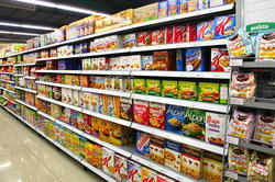 Supermarket Cereal Display Rack
