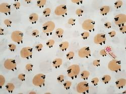 Sheep Prints Baby Dress Fabric