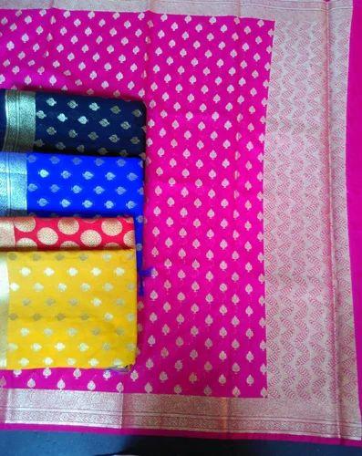 Silk Dupatta - Handloom Silk Net Dupatta Manufacturer from Varanasi