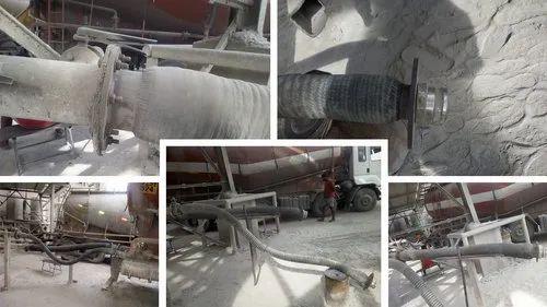 Bulker Unloading Rubber Hose - From Bulker Truck Capsule To Silo