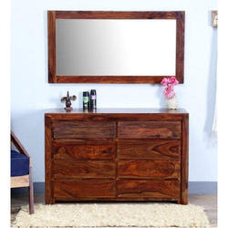 Brown Solid Wood Cabinet, Size: 48 x 15 inch